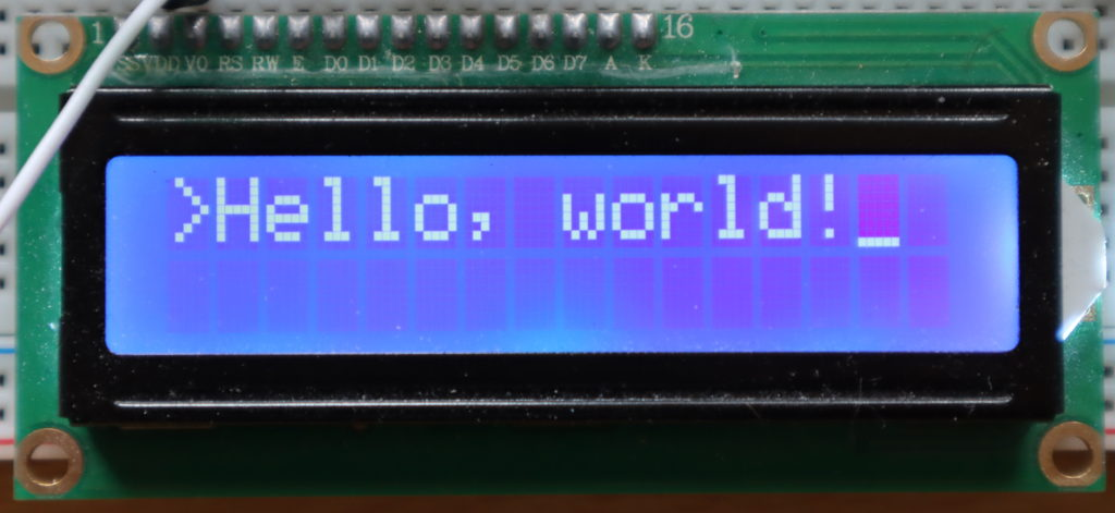 A generic character LCD display.