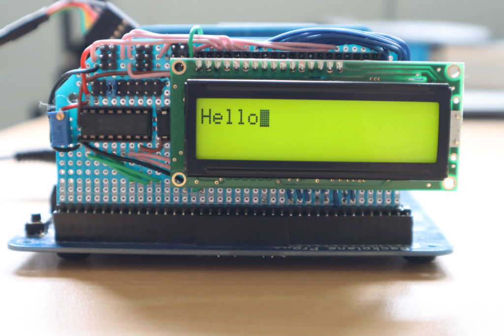 My prototype LCD board connected to my RC2014