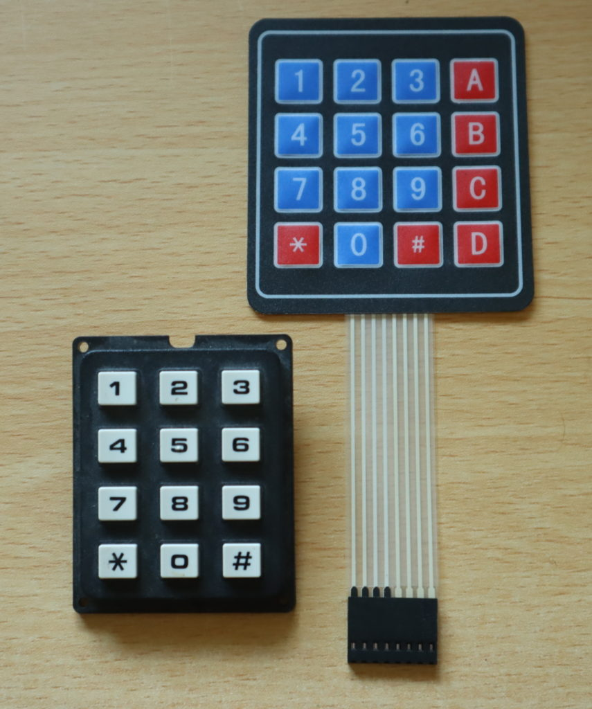Some typical keypads.