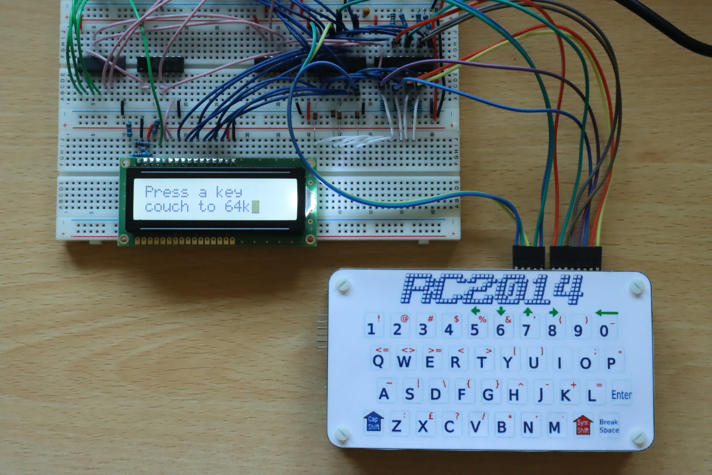 Reading keys from the RC2014 keyboard