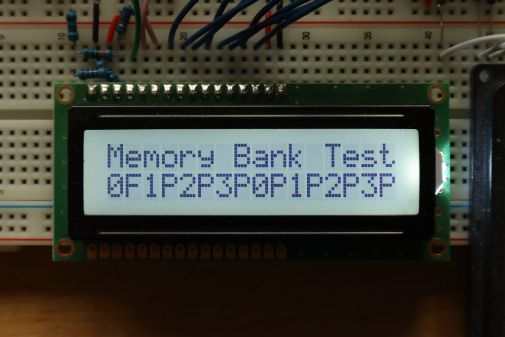 Running to memory bank test program